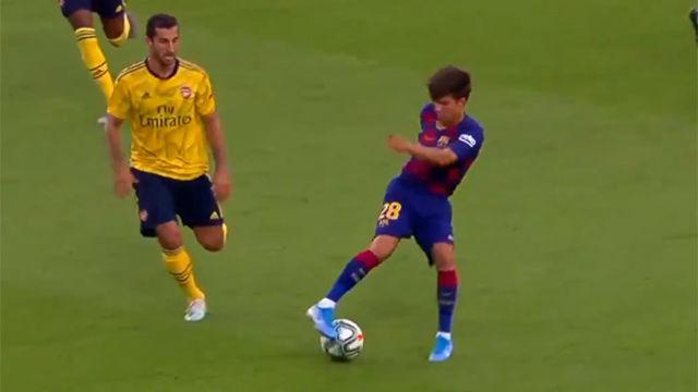 Exquisitez técnica de Riqui Puig ante el Arsenal: cuando el músculo no lo es todo