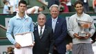 Federer elogió a ambos tenistas