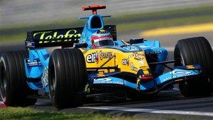 Fernando Alonso en su etapa en Renault