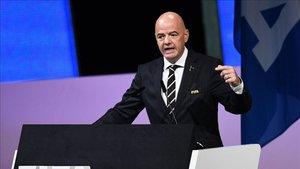 Gianni Infantino en el Congreso de la FIFA