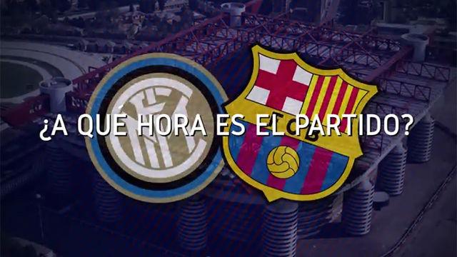 Horario mundial del Inter - Barça