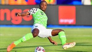 Ighalo en un partido con Nigeria