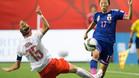 Japón derrotó por la mínima a Suiza