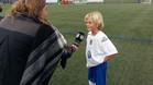 Jordan, el nieto de johan Cruyff estuvo en la Ciutat Esportiva