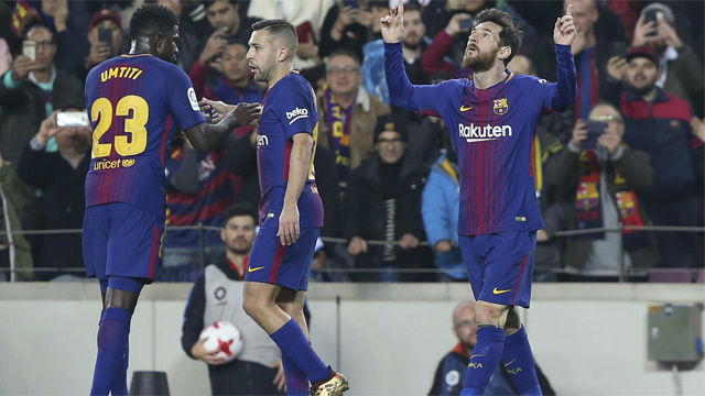 LACOPA | Barça-Espanyol (2-0) | Ante el Espanyol, Messi marcó el gol 4.000 del Barça