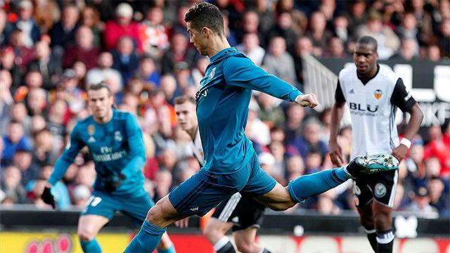 LALIGA| Valencia - Real Madrid (1-4): Cristiano Ronaldo se convirtió en el jugador que más penaltis ha lanzado en la historia de la liga