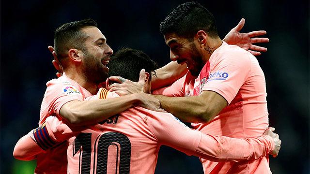 Las notas de los jugadores del Barça ante el Espanyol, al descanso