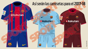 2f1a2183c9710 Así serán las camisetas del FC Barcelona de la temporada 2017 2018