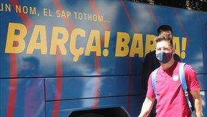 Leo Messi sostiene al Barça