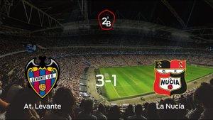 El At. Levante se queda con los tres puntos frente a la CF La Nucía (3-1)