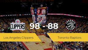 Los Angeles Clippers se impone por 98-88 frente a Toronto Raptors