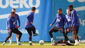 Los blaugrana prepararon el duelo ante el Valladolid en la Ciutat Esportiva