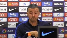 Luis Enrique ha evitado hablar del abrazo entre Quique y Messi