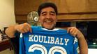 Maradona celebró el gol de Koulibary