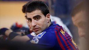 Marc Gual recibirá este sábado el cariño del Palau Blaugrana