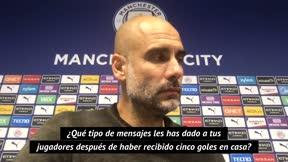 El mensaje de Guardiola a sus jugadores tras el 2-5 ante el Leicester