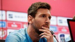 Messi aún parece algo desanimado