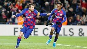 Messi, autor del gol del FC Barcelona contra el Granada