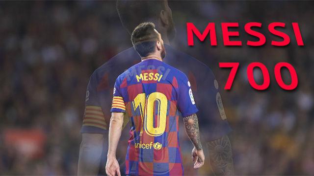 Messi cumple 700 partidos con el Barça