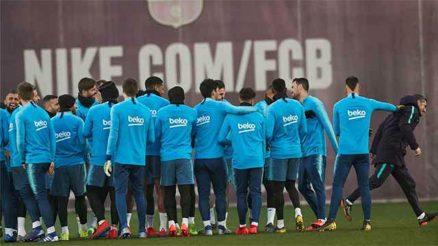 Messi y Dembélé entrenaron con normalidad con el resto del equipo