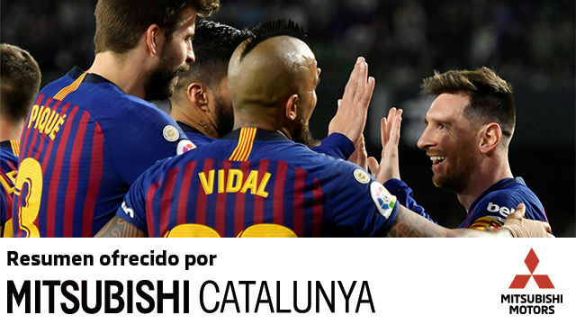 Messi lideró el triunfo del Barça ante el Betis, con un hat trick