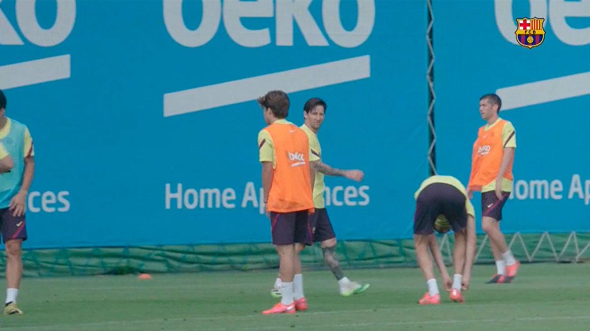 ¡Messi tiene hambre de fútbol! Aquí está la prueba...