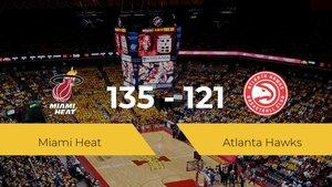 Miami Heat se queda con la victoria frente a Atlanta Hawks por 135-121