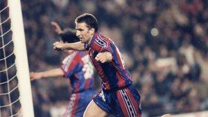Pizzi marcó su gol más recordado como azulgrana ante el Atlético