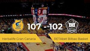 Primera jornada de la Liga ACB: Herbalife Gran Canaria 107 - 102 RETAbet Bilbao Basket