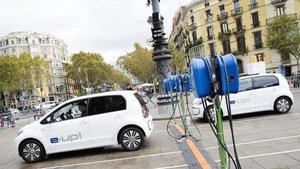 Puntos de carga en Barcelona.
