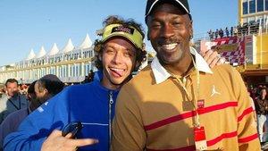 Rossi, con Michael Jordan