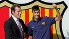 Sandro Rosell y Neymar
