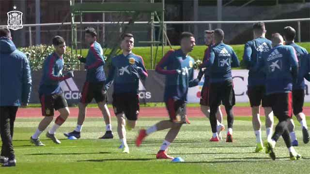 La selección continúa preparando el partido ante Noruerga
