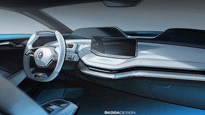 Skoda revela el diseño del interior del Vision E.
