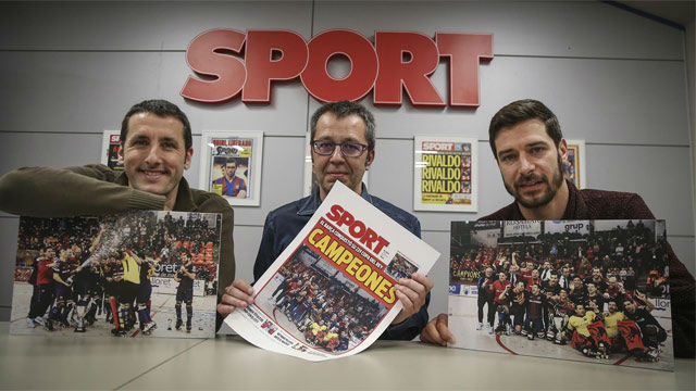 SPORT recibe a los campeones Sergi Fernández y Aitor Egurrola