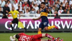 El Toto Salvio fue una de las figuras para que Boca llegue a la semifinal