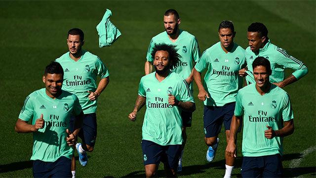 El último entrenamiento del Madrid antes de medirse al Brujas