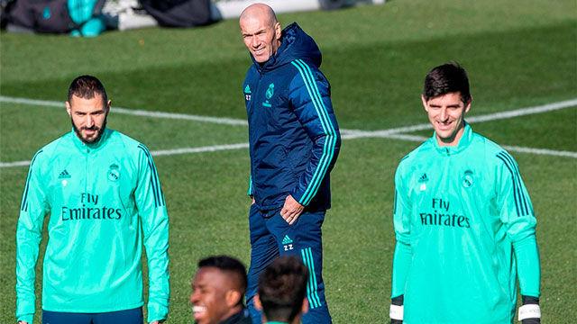 Último entreno del Madrid antes del encuentro ante el PSG