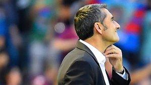 Valverde, dubitativo durante el partido
