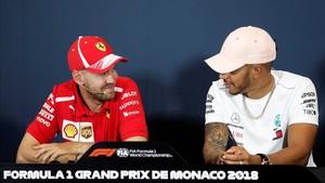 Vettel y Hamilton, en rueda de prensa
