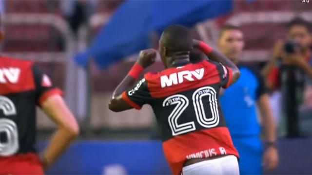 Vinícius Jr la lió tras marcar un auténtico golazo con el Botafogo