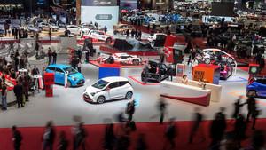 Vista general del centro de exposiciones durante la jornada abierta a la prensa
