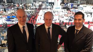 Ricard Zapatero, Enrique Lacalle y José Miguel Garcia, responsables del Automobile Barcelona.