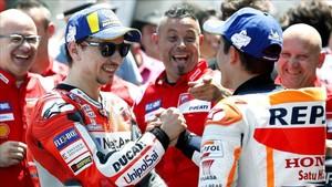 Lorenzo y Márquez, futuros compañeros en Honda