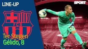 El 1x1 del Barça - Espanyol al descanso