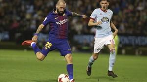 Aleix Vidal, en el partido de ida de Copa contra el Celta en Balaídos