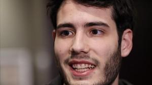 Álex Abrines durante su entrevista