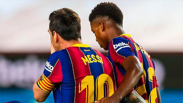 Ansu Fati: Messi me ayuda y me da consejos (ES)