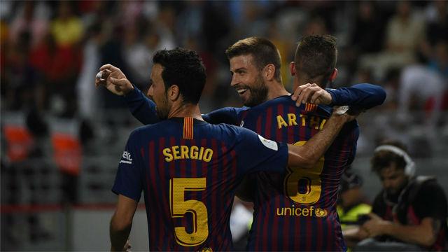 Así narró la radio el gol 50 de Piqué como profesional