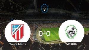 El At. Astorga consigue un empate a cero frente al Santa Marta